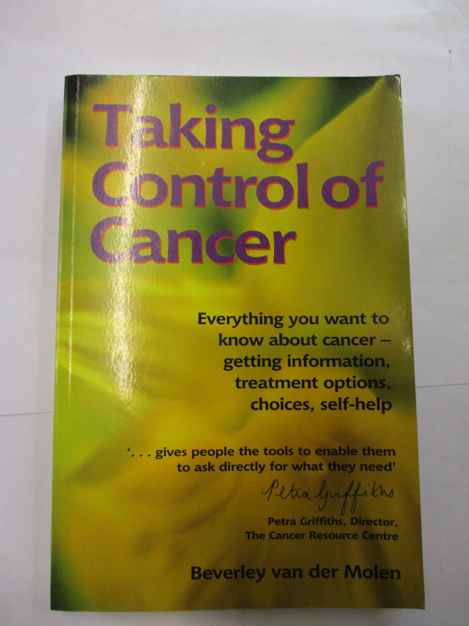 Image for TAKING CONTROL OF CANCER